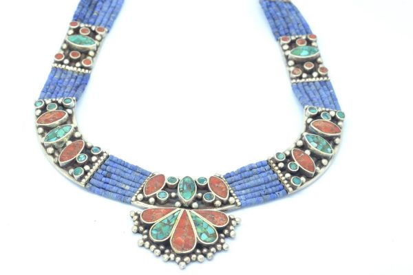 Collar Silver 925, Vintage Look with Blue Lapis 1