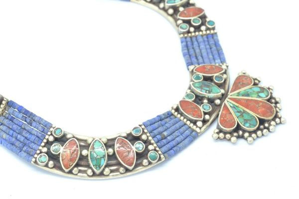 Collar Silver 925, Vintage Look with Blue Lapis 3